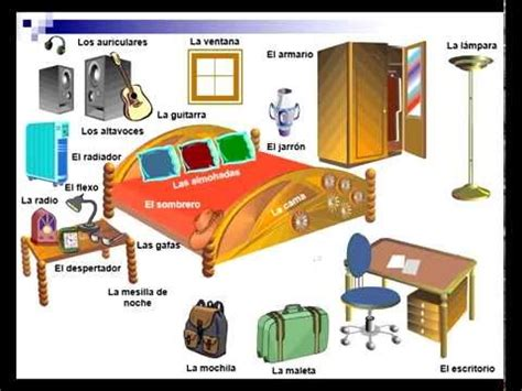my bedroom in spanish spanish vocabulary the bedroom youtube