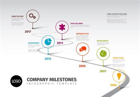 timeline template with icons presentation templates