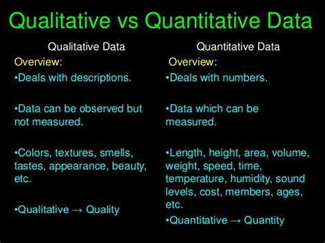 exle of qualitative data qualitative vs quantitative data