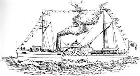 barco de vapor dibujo para colorear barco de vapor dibujo imagui