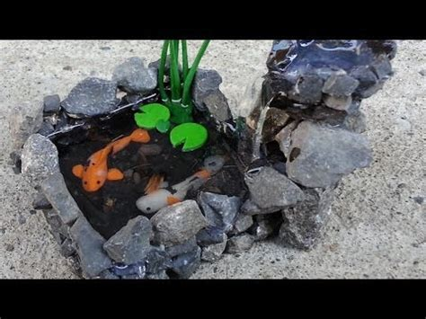 KOI POND WATERFALL Polymer Clay Tutorial   YouTube
