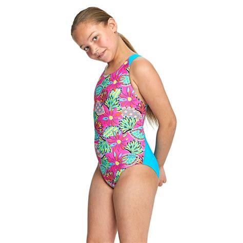 junior girls zoggs junior girls cuban sunset flyback swimsuit swimbabes
