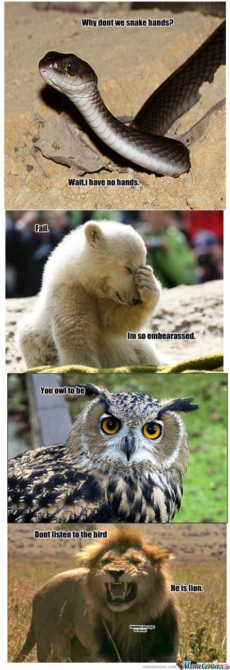 Animal Pun Meme - animal puns by alkisme meme center