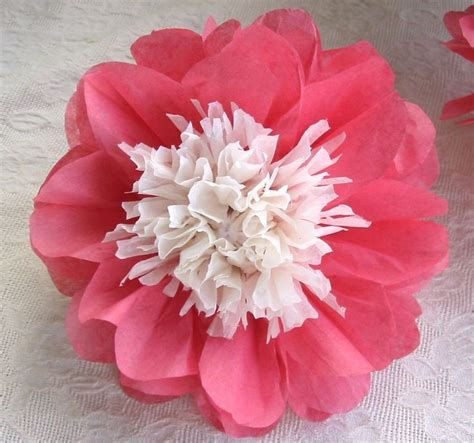 Handmade Tissue Paper Flowers - 12 diy tissue paper flowers japanese anemone by