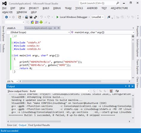 linux tutorial you porting a windows app to linux with visual studio