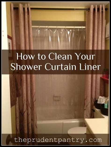 How To Clean Your Shower Curtain Liner Clean It Pinterest