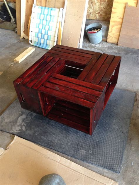 diy wine crate coffee table 12 99 wine crates from