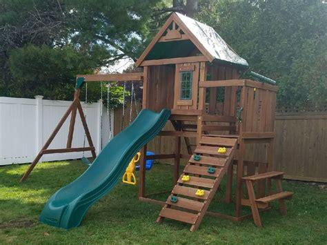 swing n slide playset wooden swing set assembly swing set installation ma ct