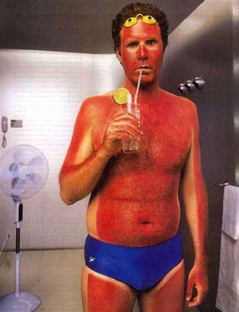 sunburn from tanning bed will ferrell sunburn tan lines pinterest will
