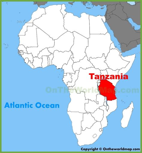tanzania on the world map tanzania location on the africa map