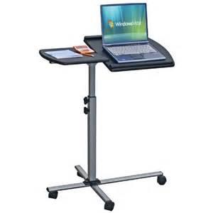 Adjustable Mobile Rolling Laptop Desk Adjustable Mobile Rolling Laptop Notebook Computer Cart Graphite Home Office Desks