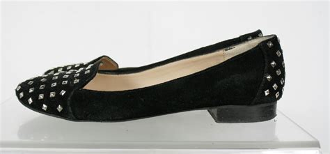 pointy flats shoes dolce vita black suede pointy studded slip on flats shoes