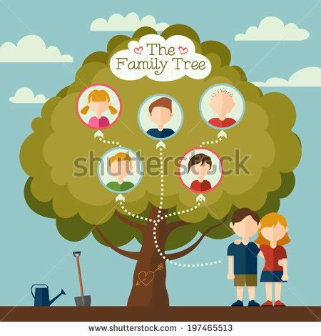Family Tree Stock Images Royalty Free Images Vectors Shutterstock Family Tree Template Modern Flat Style Stock Vector 405185863