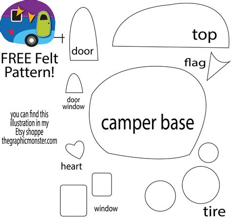 free felt templates free felt pattern from my cer illustration