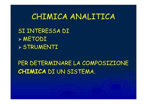 Chimica Analitica Dispense by Processo Analitico Dispense