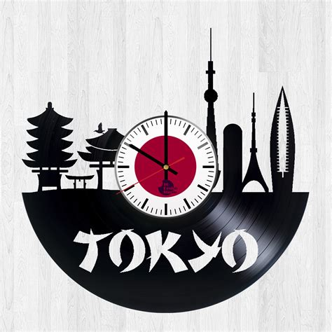 Handmade Clock - tokyo 東京 handmade vinyl record wall clock vinyl clocks