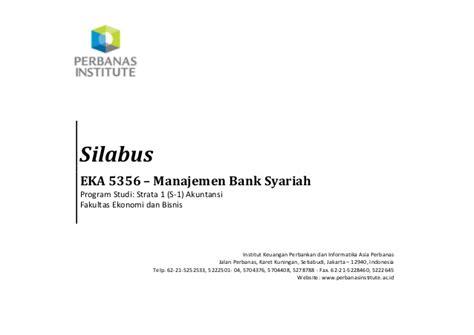 Manajemen Bisnis Syari Ah eka 5356 silabus manajemen bank syariah program studi s1