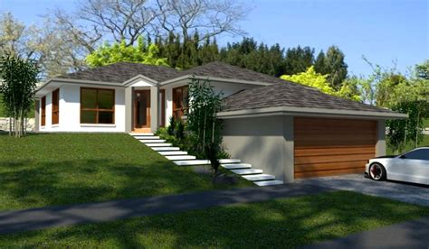 House Plans For Sloped Land Sloping Land 4 Bedroom 2 Living Areas Garage