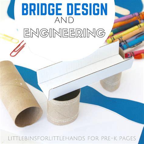 build a bridge science activity for kids bridge designs building bridges engineering activity pre k pages
