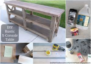 Diy Rustic Sofa Table white diy rustic x console table diy projects