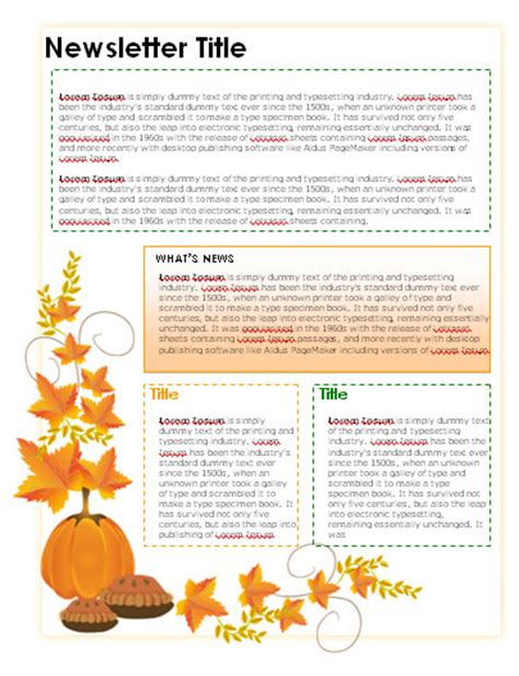 free november newsletter templates newsletter templates in microsoft word format