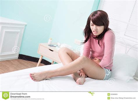 with stomach ache stock image image of