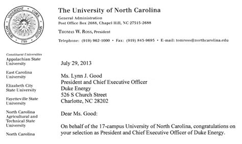 College Letter Acceptance Exle Of Carolina Tells Utility Duke Energy It Wants Clean Energy Power Shift Network