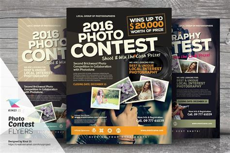 Photo Contest Flyer Templates By Kinzi21 On Creativemarket Flyer Pinterest Flyer Template Photo Contest Website Template