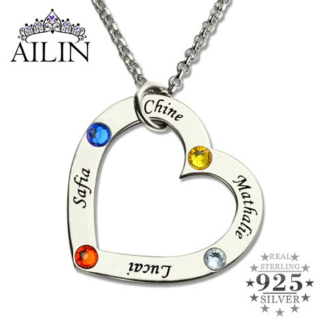 wholesale birthstone necklace in silver personalized