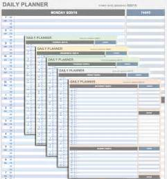 excel planner template free daily schedule templates for excel smartsheet