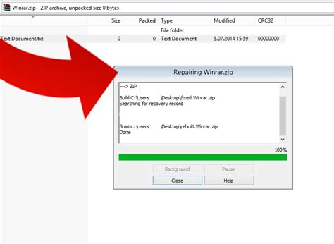 repair and extract corrupted rar file repair winrar files how to use winrar to fix corrupted rar and zip archives 9