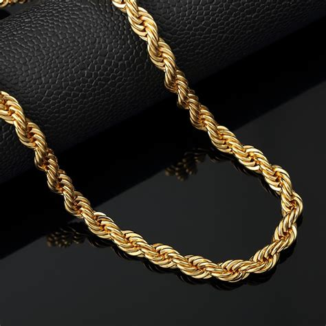 cadena de oro italy 417 popular thick gold rope chains buy cheap thick gold rope