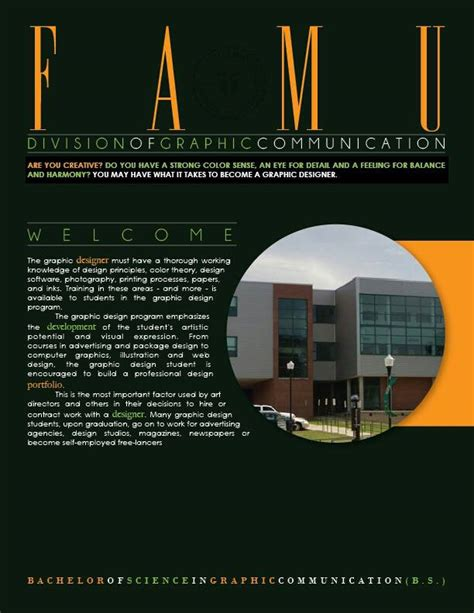 bachelor design visual communication bachelor of science in graphic design famu school of