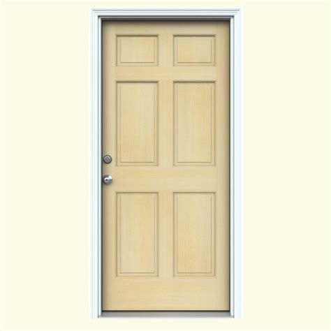 Doors Home Depot by 6 Panel Wood Doors Front Doors Exterior Doors The