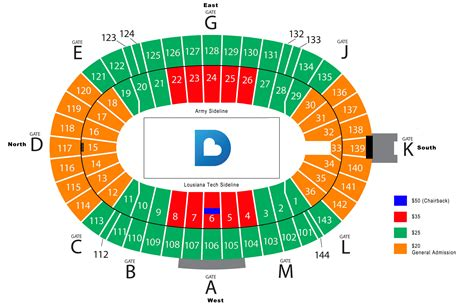 bowl seating chart with rows show up at the cotton bowl page 4