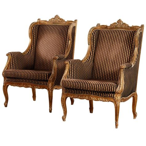 french wing chair pair of french quot wing chairs quot for sale at 1stdibs