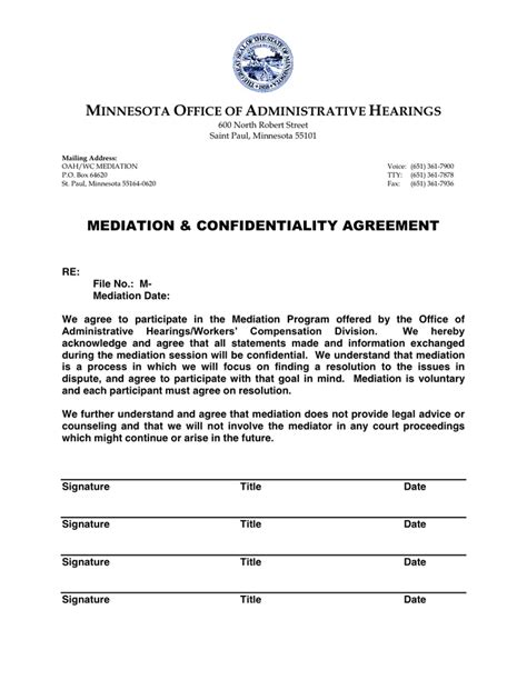 secrecy agreement template mediation confidentiality agreement in word and pdf formats