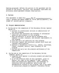 project manager contract template project contract template project manager contract