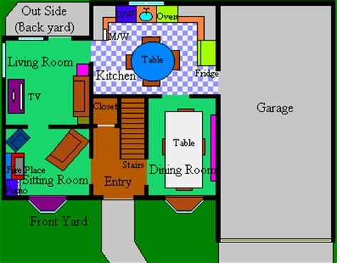 the simpsons floor plan plan of the simpsons house house plans