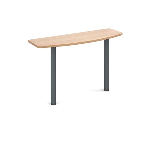 Office Desk Extension Table D End Desk Extension Table 1200mm Wide With Graphite Leg