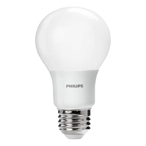 Lu Led Philips 19 Watt philips 60 watt equivalent a19 led light bulb daylight 455955 the home depot