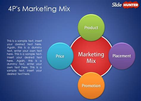 templates powerpoint marketing free 4p marketing mix powerpoint template