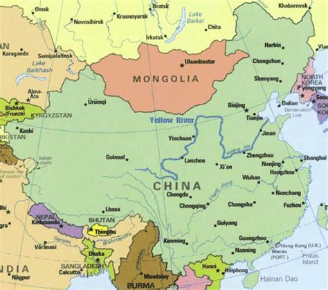 world map rivers huang he stories of yellow river in china physical geography of