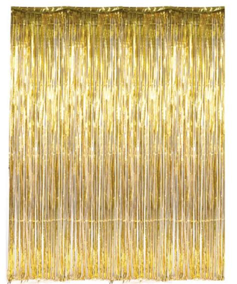 foil fringe curtains dr69268 gold foil fringe curtain