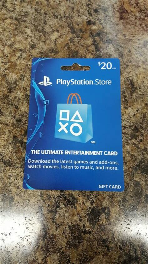 Playstation Store 20 Gift Card - playstation store gift card 20 card in hand ready to ship freeship like new buya