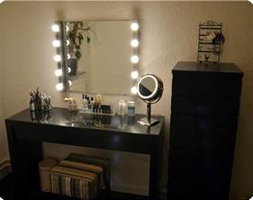 Makeup Desk With Mirror And Lights Makeup Vanity With Lights Ikea Table Vanity Set Stool In