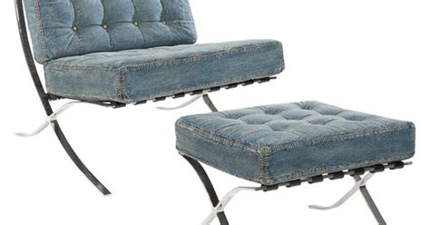 blue denim chair and ottoman stainless steel framed lounge chair and ottoman set with