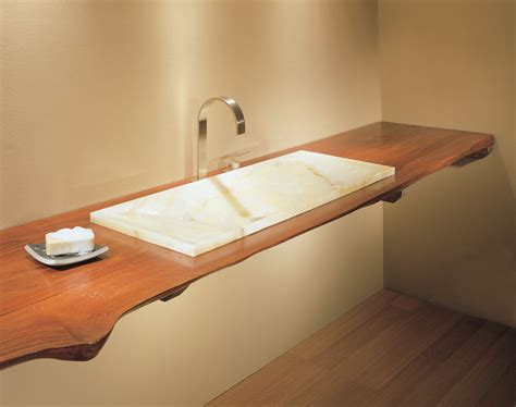 slab sink natural edge wood countertops stone forest