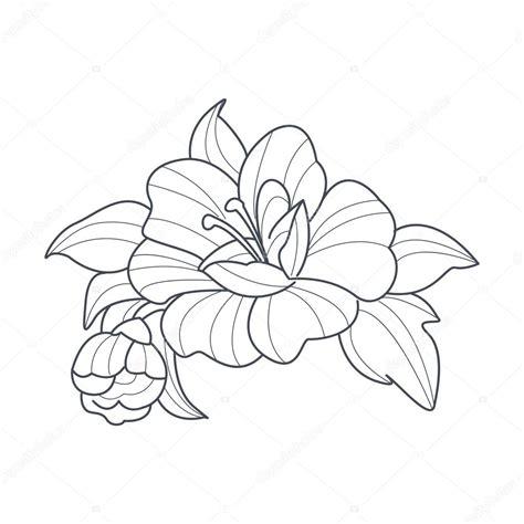 bloemen zwart wit tekening hond rose bloem zwart wit tekening voor coloring boek
