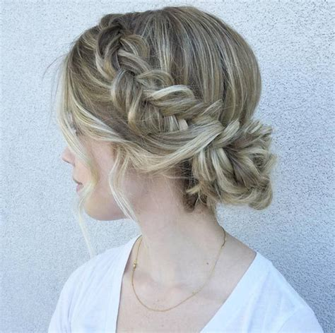 medium length updo with instructions 50 amazing updos for medium length hair fishtail brides